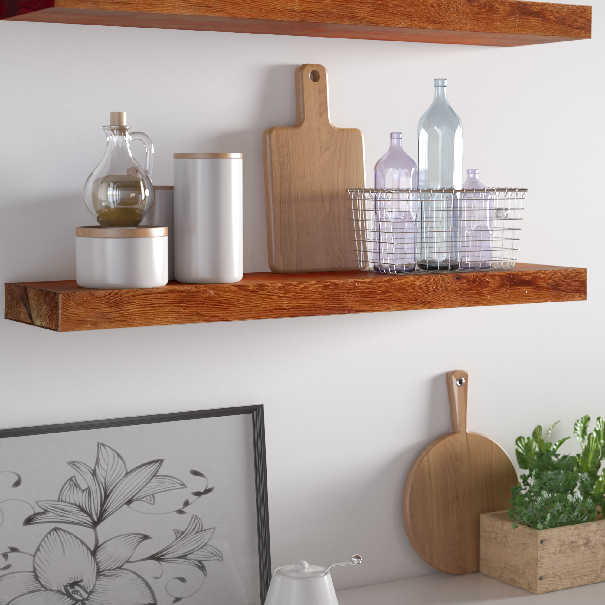loon peak sharri rough cedar true floating shelf ledge bookshelf coat and umbrella rack ikea table top shelves white wall mounted unit bathroom storage tower hanging shoe canadian