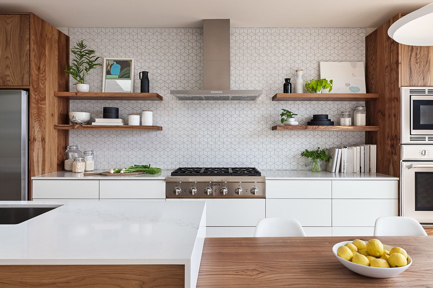 los palmos svk interior design home improvement floating shelf height kitchen the heath ceramics wall tile backsplash was extended full and behind shelves white gold duster toilet