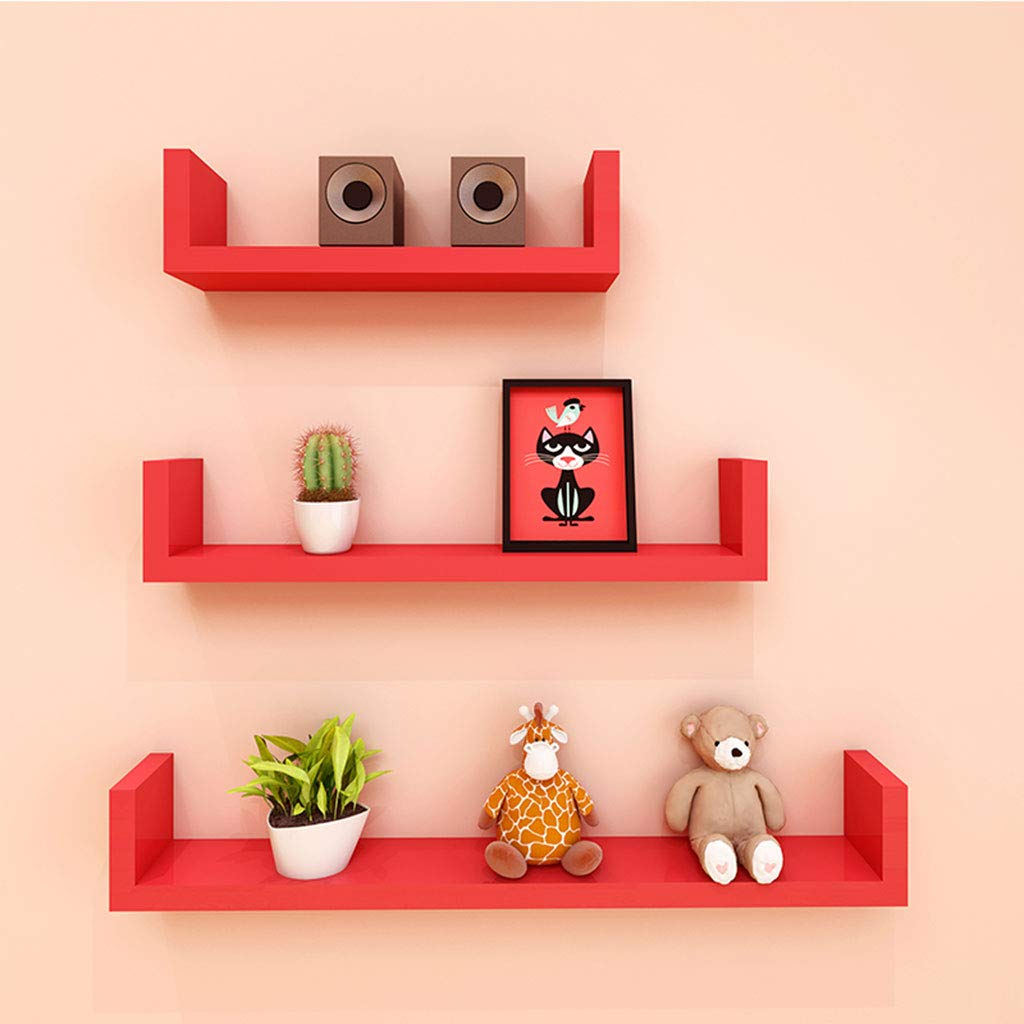ltjtvfxq shelf set wall shelves floating red hanging bookshelf rack display decoration mounted ledge color home kitchen free glass long white media cabinet with doors marble top