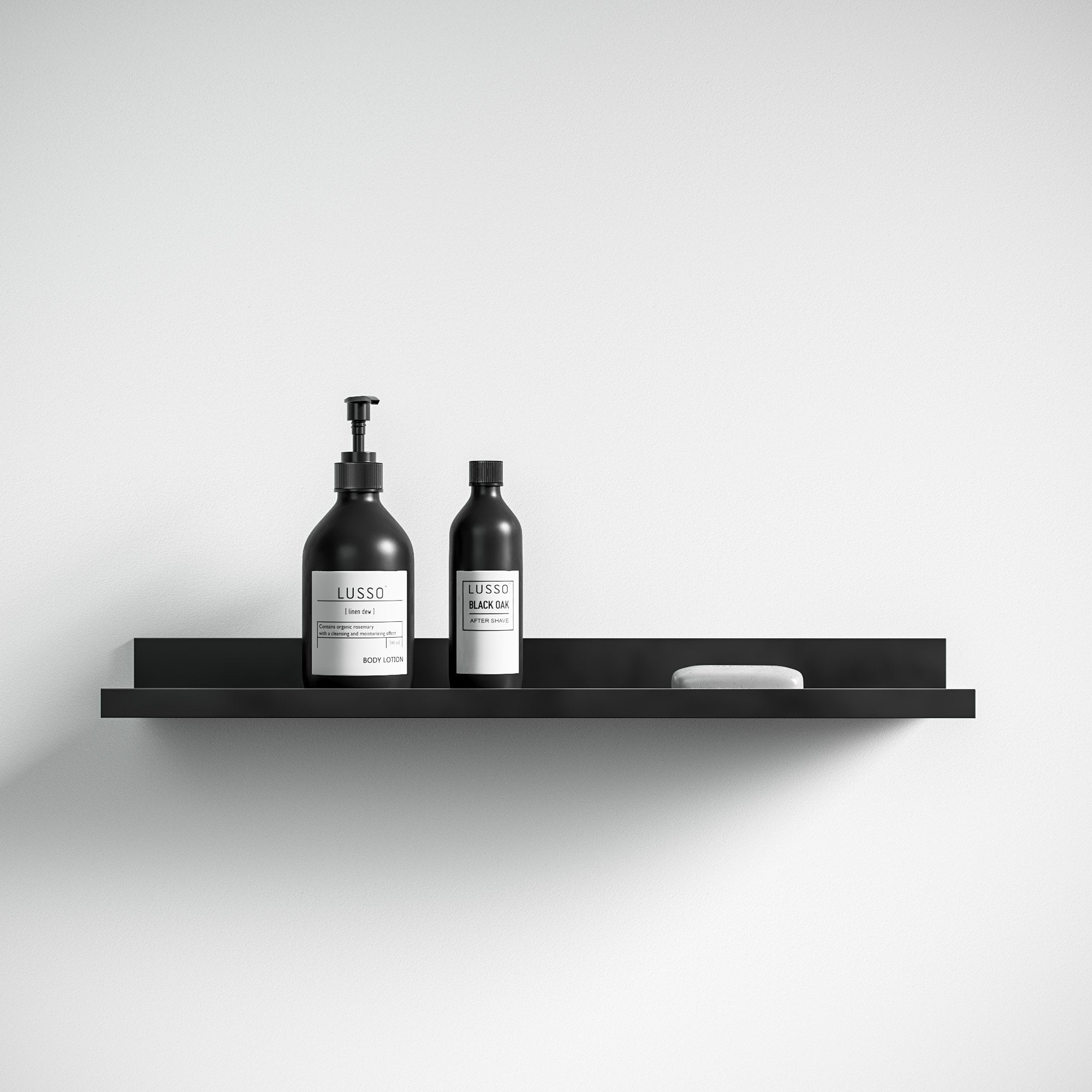 lusso designo floating shelf matte black accessories zoom shelves french cleat power tool storage metal accordion coat rack large desk white cube organizer ikea inch wide diy