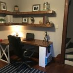 made built desk and floating shelves girlfriend house over spring break thanks for letting borrow the tools decorative shelf supports wood cable box mounting ideas natural ture 150x150