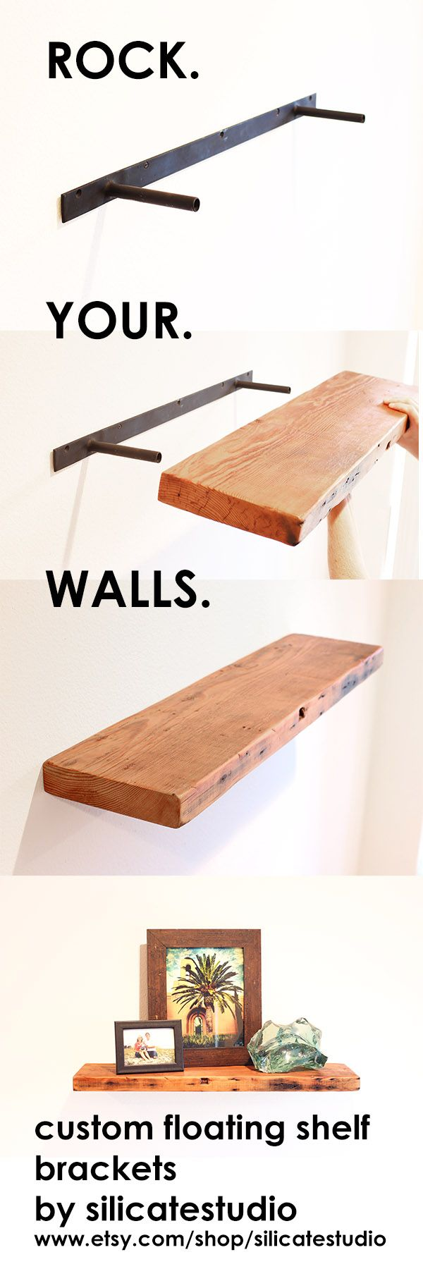 make any slab wood floating shelf with tough and invisible timber brackets custom bracket from silicate studio works especially well reclaimed wall shelves diy stackable shoe