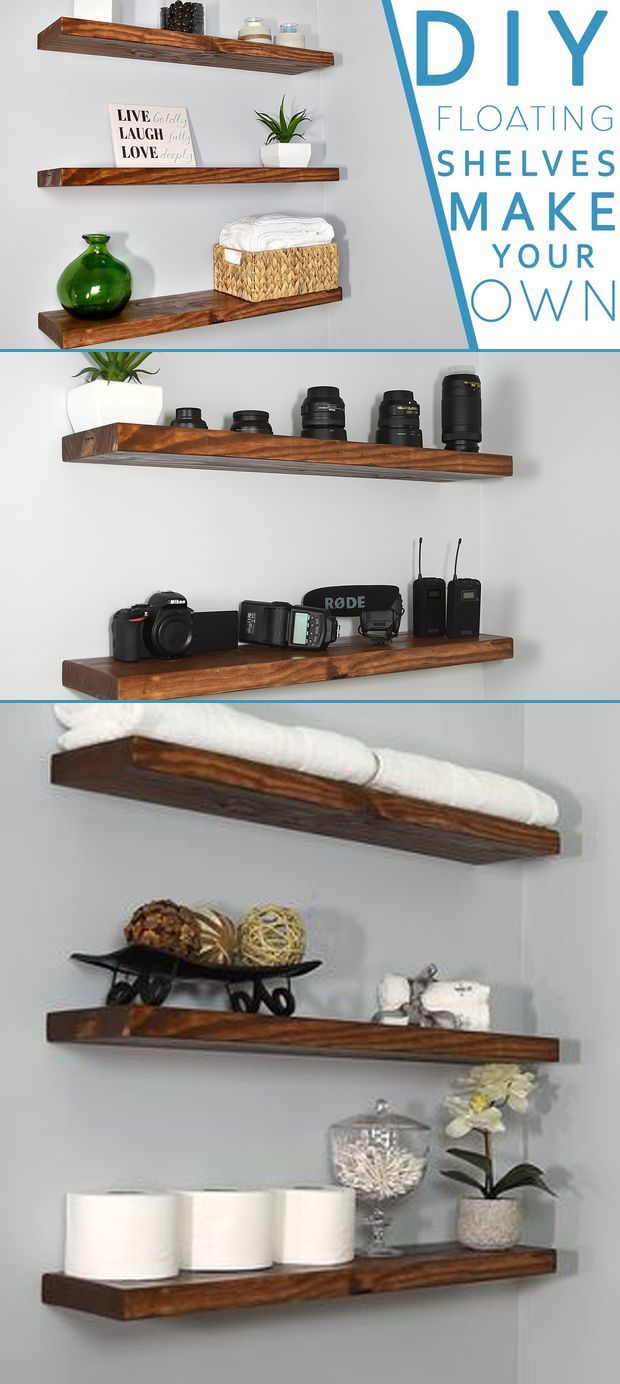 make your own floating shelves with this simple technique dowels hook wall coat rack corner table homebase units plasterboard small pieces furniture decorative angle brackets