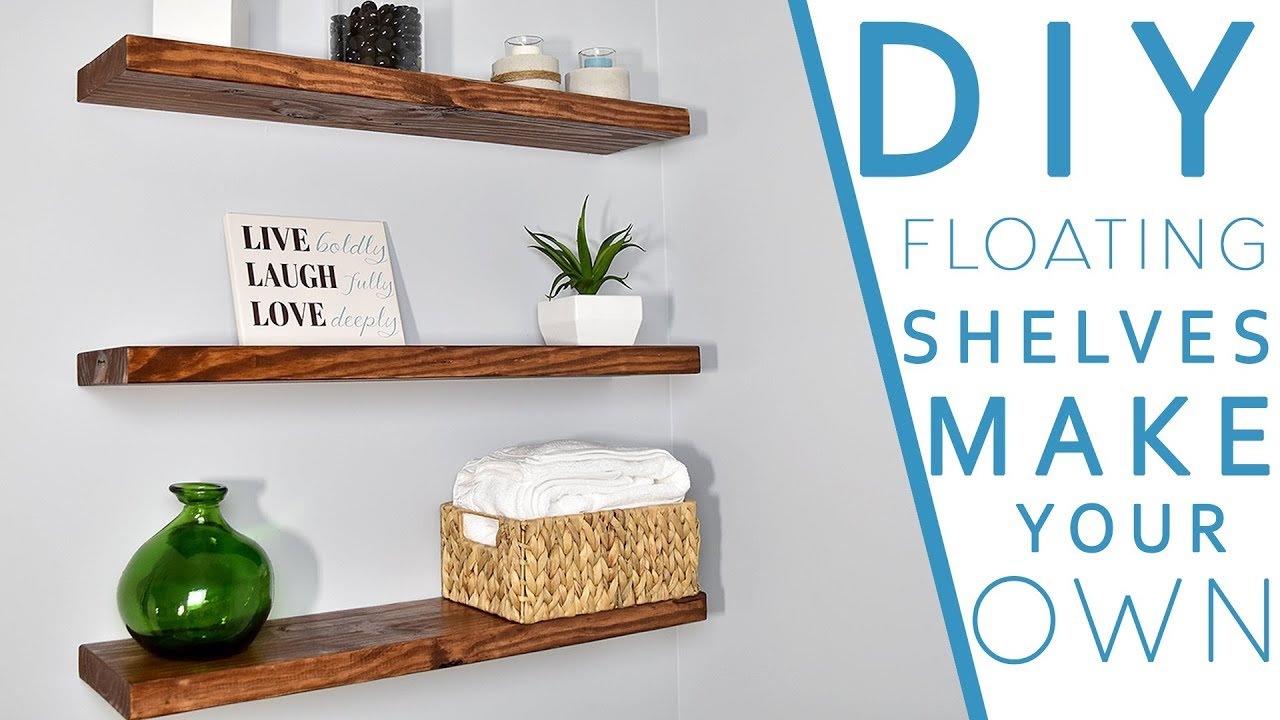 make your own floating shelves with this simple technique steps shelf rod post brackets tures garage corner shelving unit beech antique mantel inch deep white rectangle closet