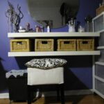 makeup shelves floating corner design for diy vanity table using baskets white freestanding shelving unit home welder wood fireplace surround kits metal shelf brackets custom 150x150