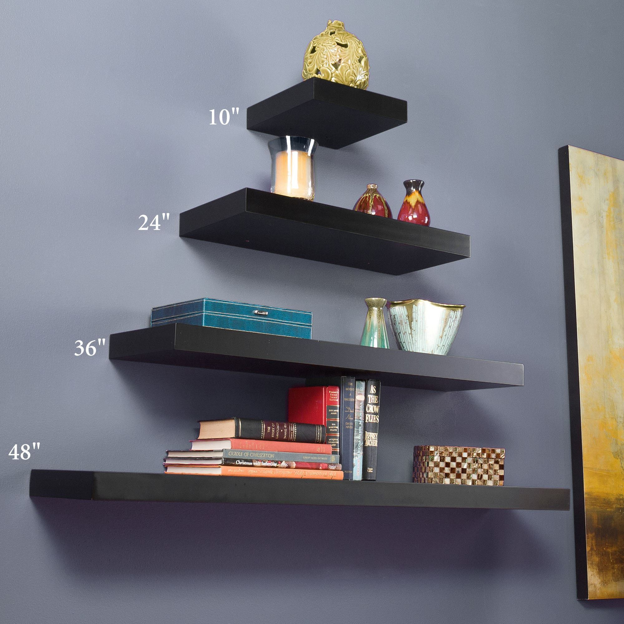 manhattan black wooden floating wall shelves shelf with drawer large white shoe cabinet fire mantel command depth above radiator cubes rectangular stick mirrors iron office