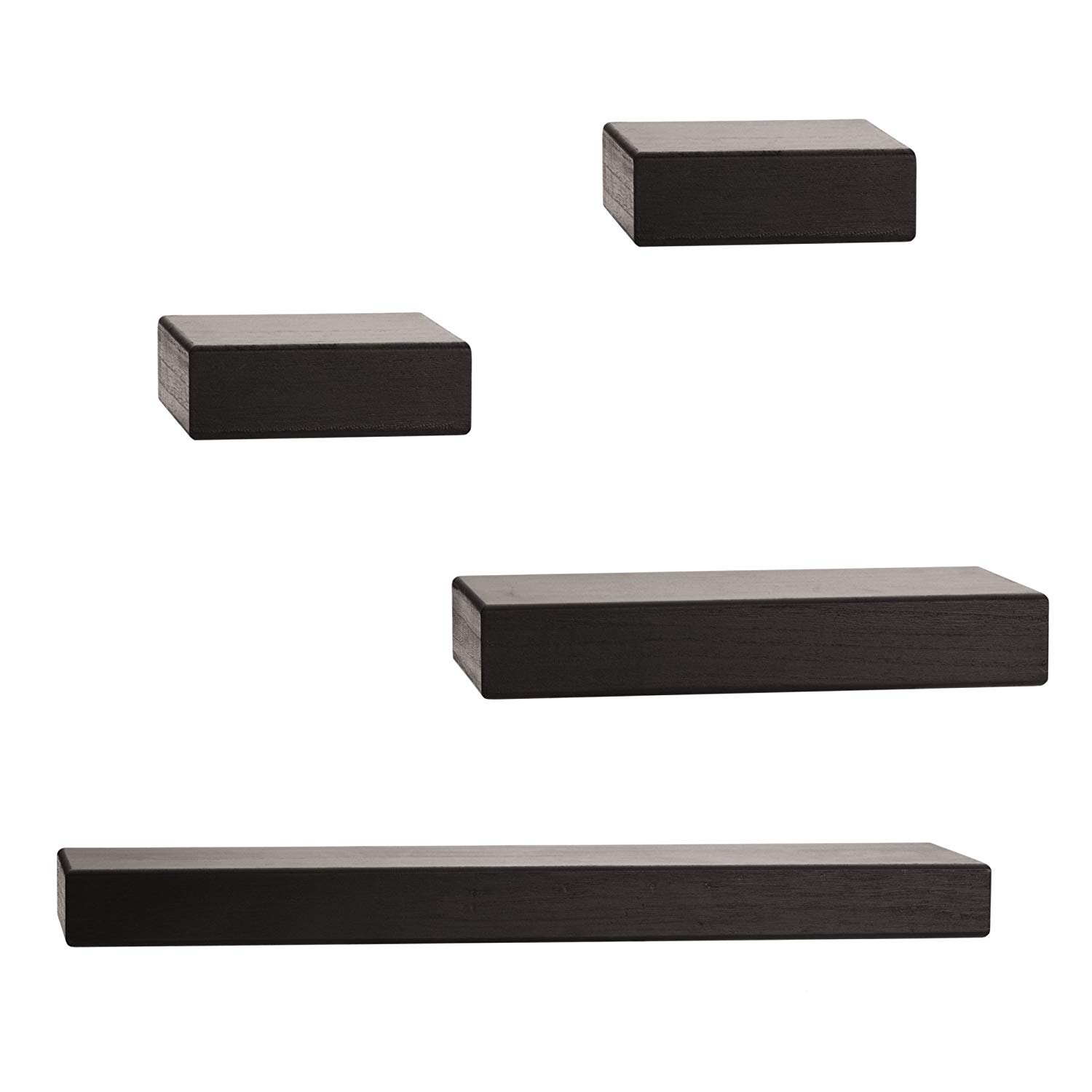 melannco floating wall mount thick chunky shelves set black shelf home kitchen ture plans cable management vinyl tile over plywood holman installation problems decorative hooks