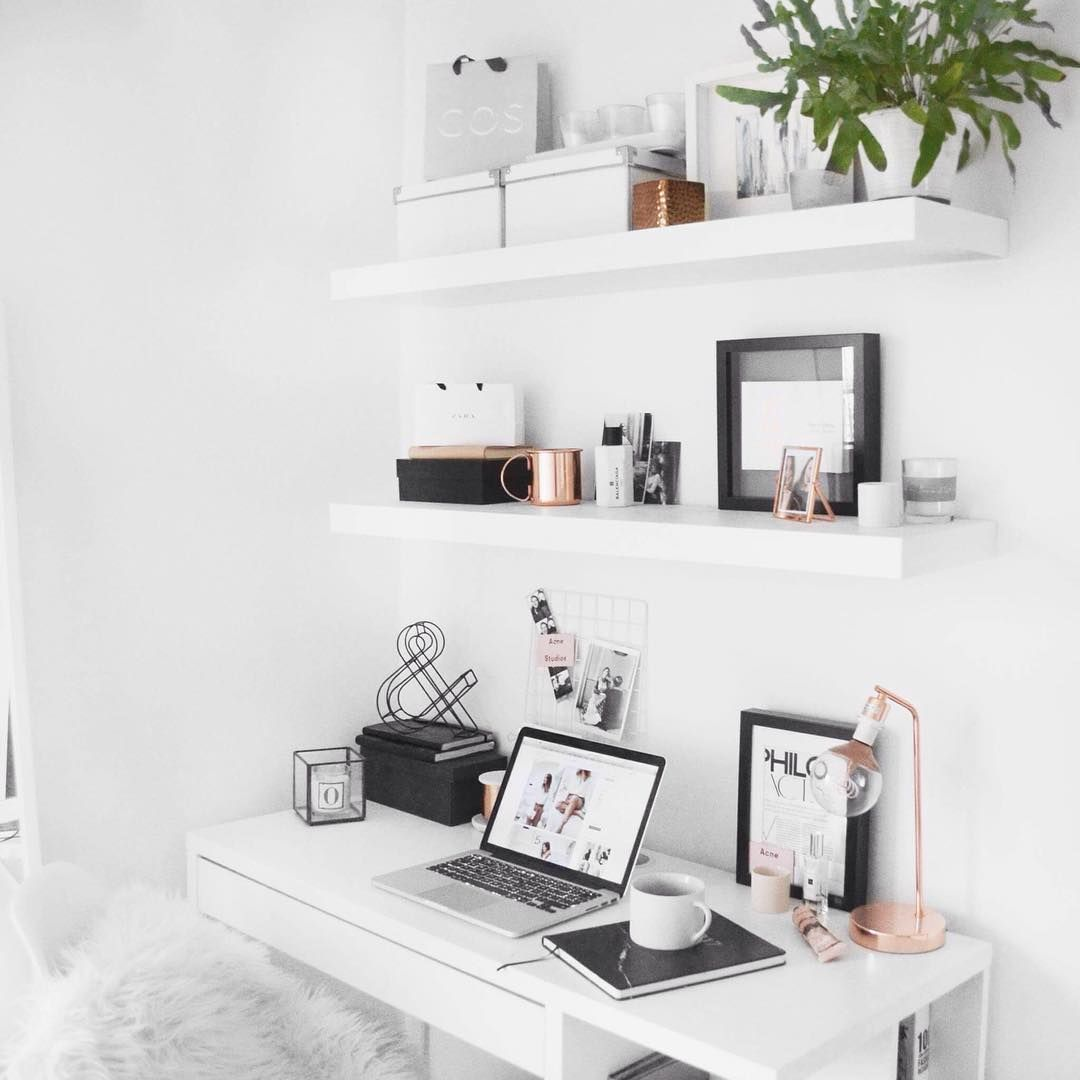minimal desk ikea floating shelves with rose gold detail bedroom shelf over reclaimed wood fireplace mantel lights for small metal bookshelf strong sticky hooks walls best