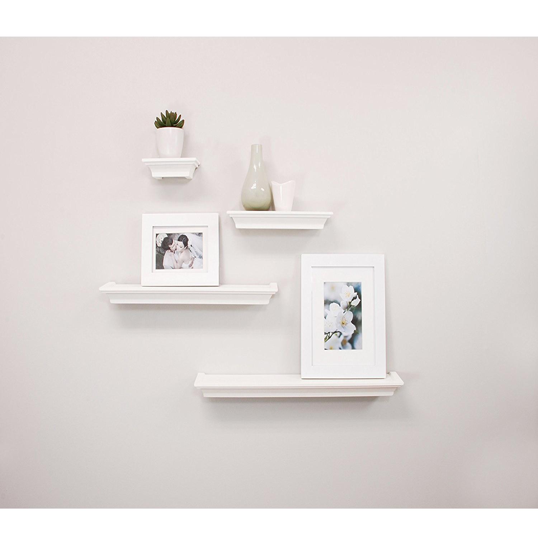 modern set wall mount shelf floating decor shelves furniture melannco grey high quality shoe holder glass bookshelves cube mantel kitchen recessed lighting mounted white deep