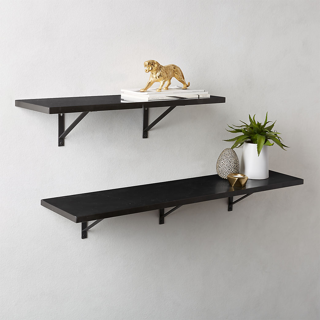 modern shelving and wall mounted storage black marble shelves metal floating corner shelf garage bin organizer small bedroom dark wood mantel bookshelf unit ontario bar support