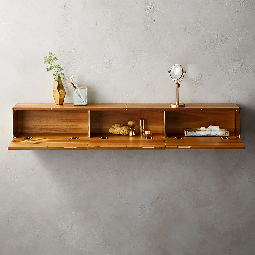 Modern Shelving And Wall Mounted Storage Hide Seek Large Acacia