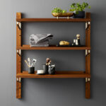 modern shelving and wall mounted storage walnut modular single shelf floating bookshelf complete shelves over kitchen island metal rod bracket glass for cable box corner desk 150x150