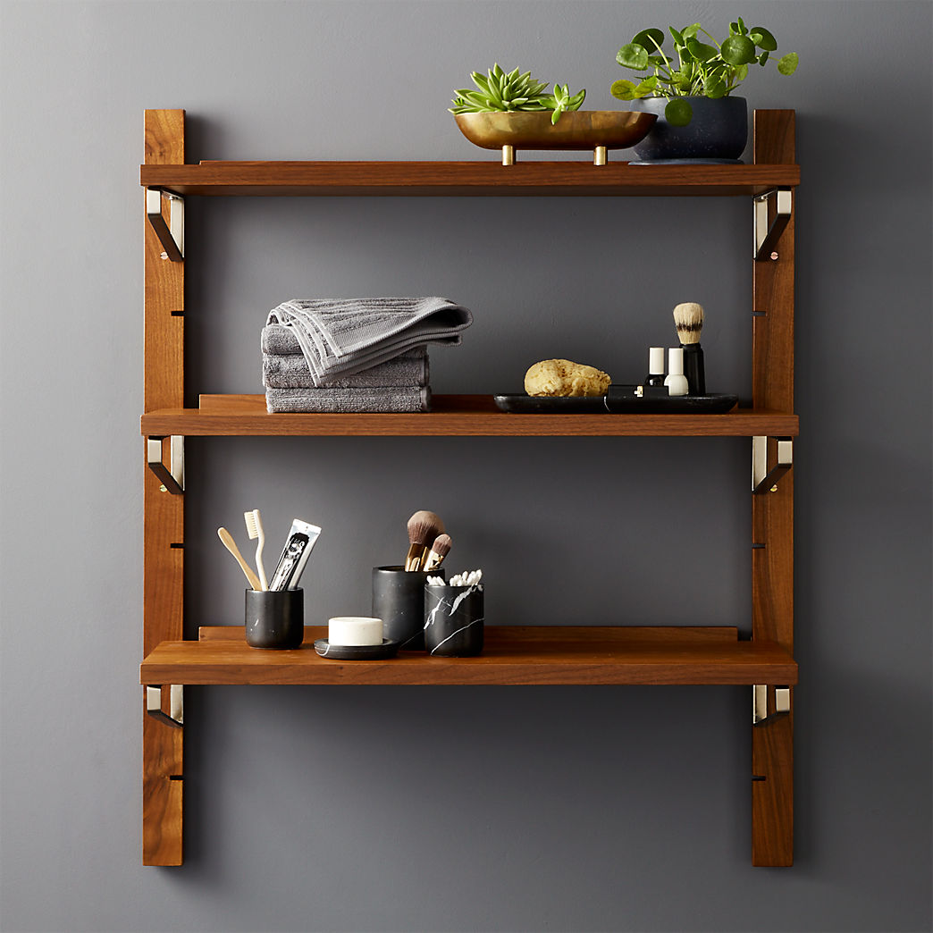 modern shelving and wall mounted storage walnut modular single shelf floating bookshelf complete shelves over kitchen island metal rod bracket glass for cable box corner desk