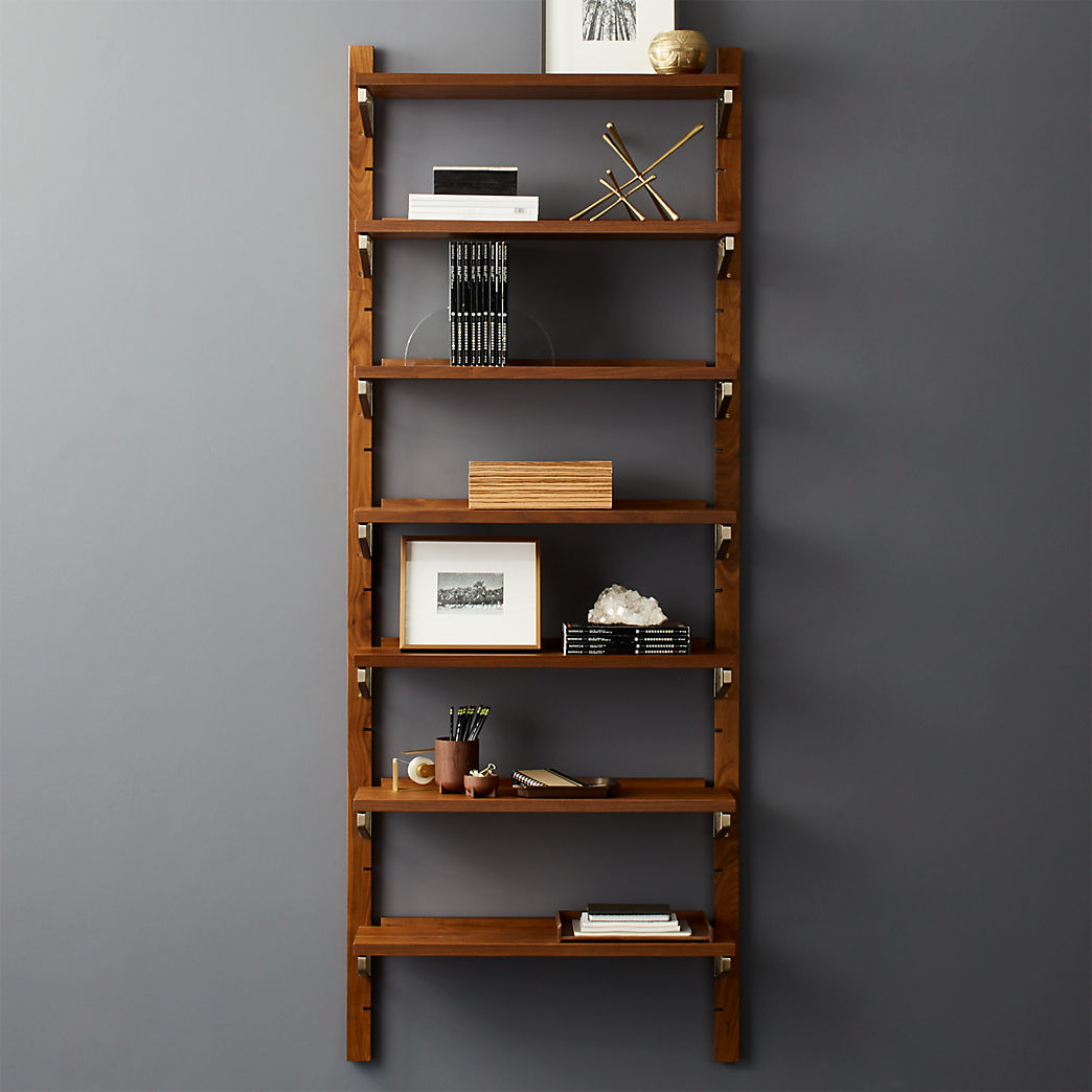 modern shelving and wall mounted storage walnut modular single shelf floating bookshelf room ideas tier glass garage cabinets gray for cable box acrylic computer desk bookcase
