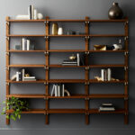 modern shelving and wall mounted storage walnut modular triple shelf floating bookshelf tile edge trim screwfix rustic steel brackets ikea ektorp slipcover big shelves barnwood 150x150