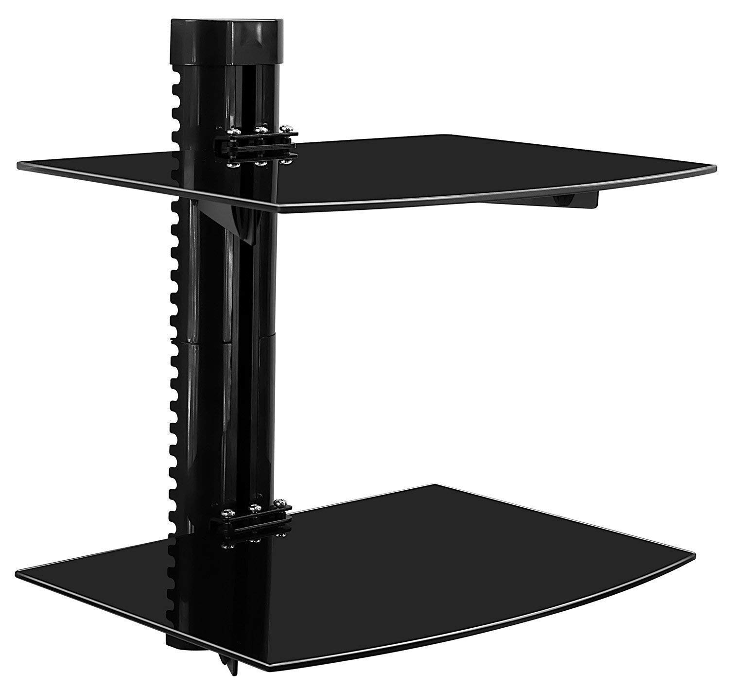 mount floating wall mounted shelf bracket stand for receiver component cable box dvd player projector lbs capacity marble fireplace mantel command hooks ikea floalt bedroom closet