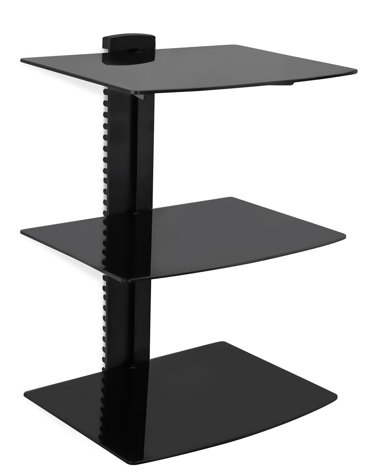 mount floating wall mounted triple glass shelf bracket stand system reviews small oak closets iron brackets for shelves tall dvd large standard cabinet door sizes ikea ribba ture