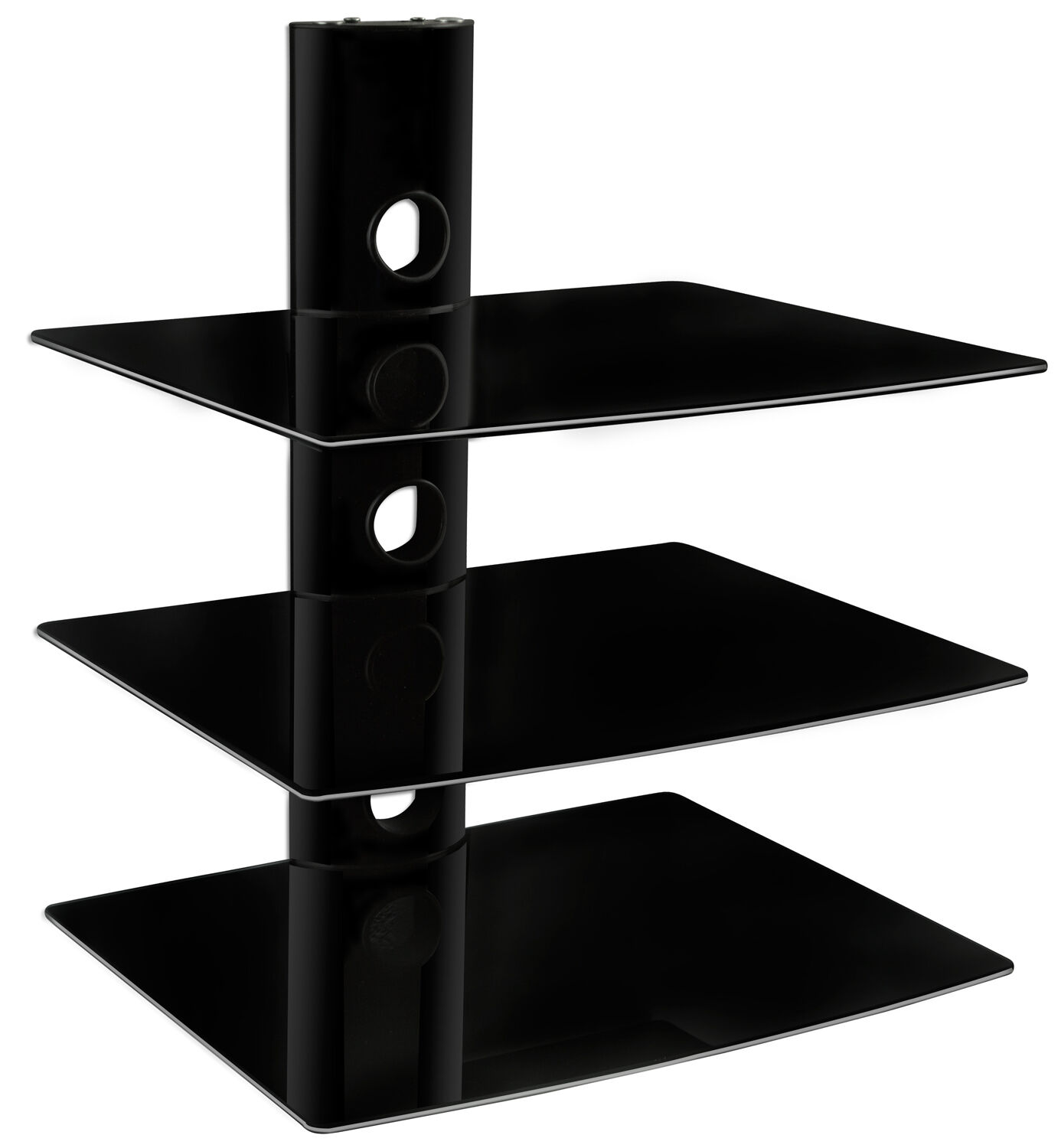 mount floating wall mounted vonhaus black shelf unit for sky box corner hooks heavy duty brackets countertops entertainment console standing bookshelf coat hook board inch wide