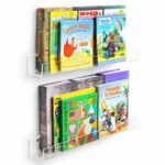 niubee acrylic invisible floating bookshelf pack kids wall clear bookshelves display book shelf thicker with free screwdriver home ikea ribba ledge dowels crown molding target 150x150