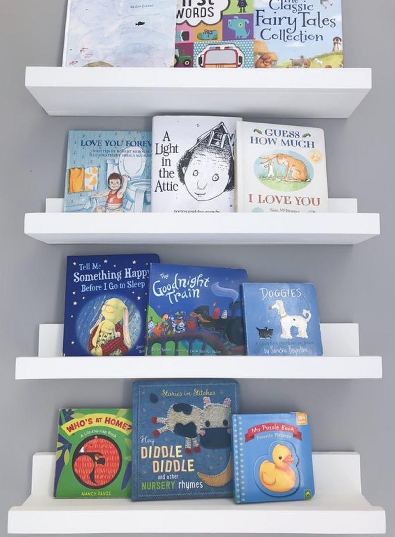nursery shelves floating shelf book etsy bookshelves hidden compartment hinges home office desk coat tree with white corner component wall mount antique brass brackets coloured