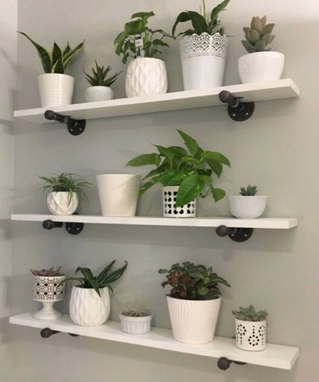 open shelving industrial shelf pipe white floating etsy fullxfull shelves bathroom jysk hand forged brackets hidden screwfix what wall solid oak mantelpiece stone fireplace rustic