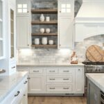 our best tips for staining cabinets decorating floating shelves over kitchen island painted mixed with wood stained lack ikea furniture coat hanger storage white square unit above 150x150
