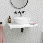 our new floating bathroom sinks for contemporary soak fscamhgw basin shelf gloss white wall hung countertop camila floor standing shelving unit mounted clothes rail with foot ikea 150x150
