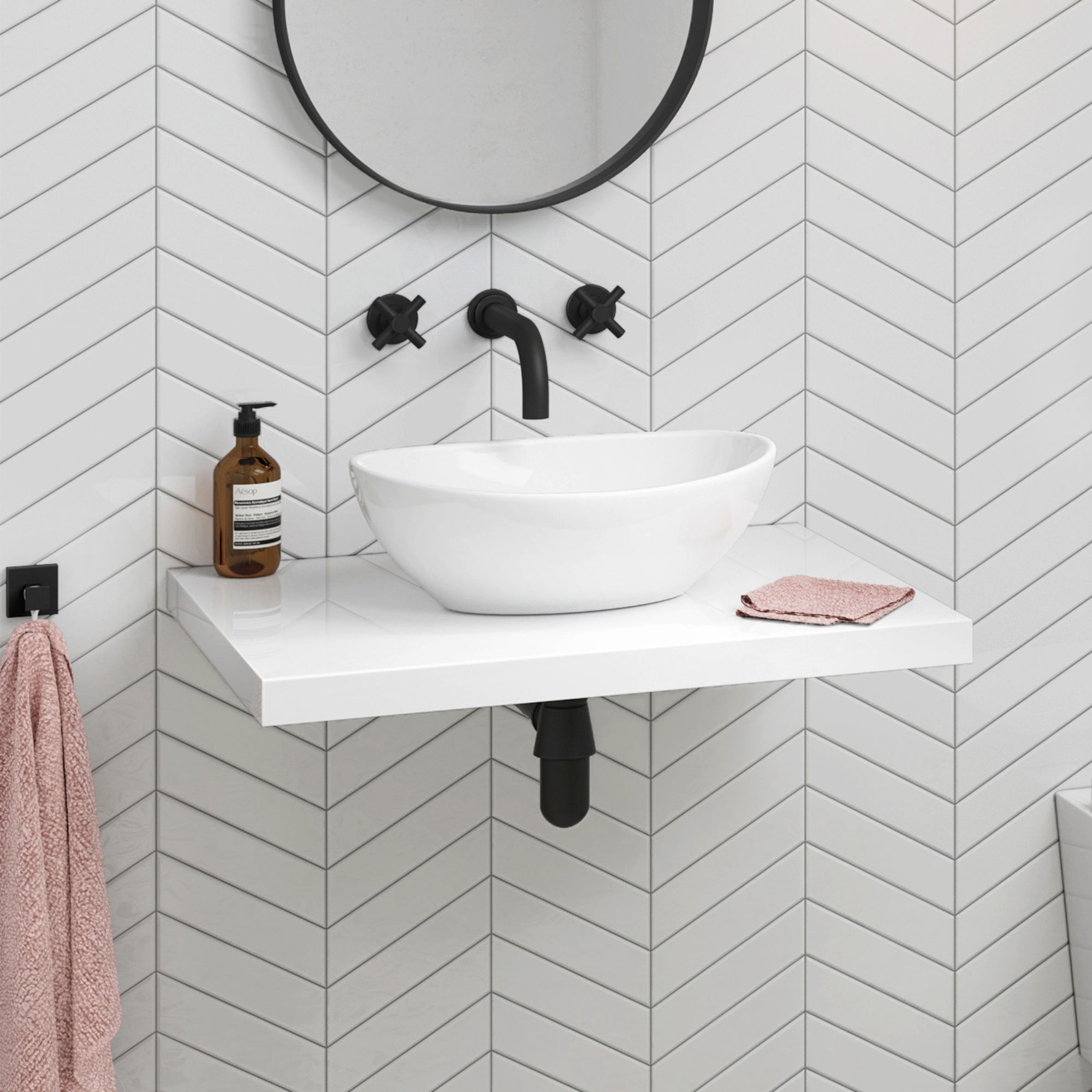 our new floating bathroom sinks for contemporary soak fscamhgw basin shelf gloss white wall hung countertop camila pottery barn closet coat stand and storage shelving systems