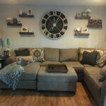 oversized wall clock with floating shelves home shelf living room multiple chunky stylish mounted coat rack bookshelf alternatives hollow fireplace mantel wooden corner mdf peel 150x150