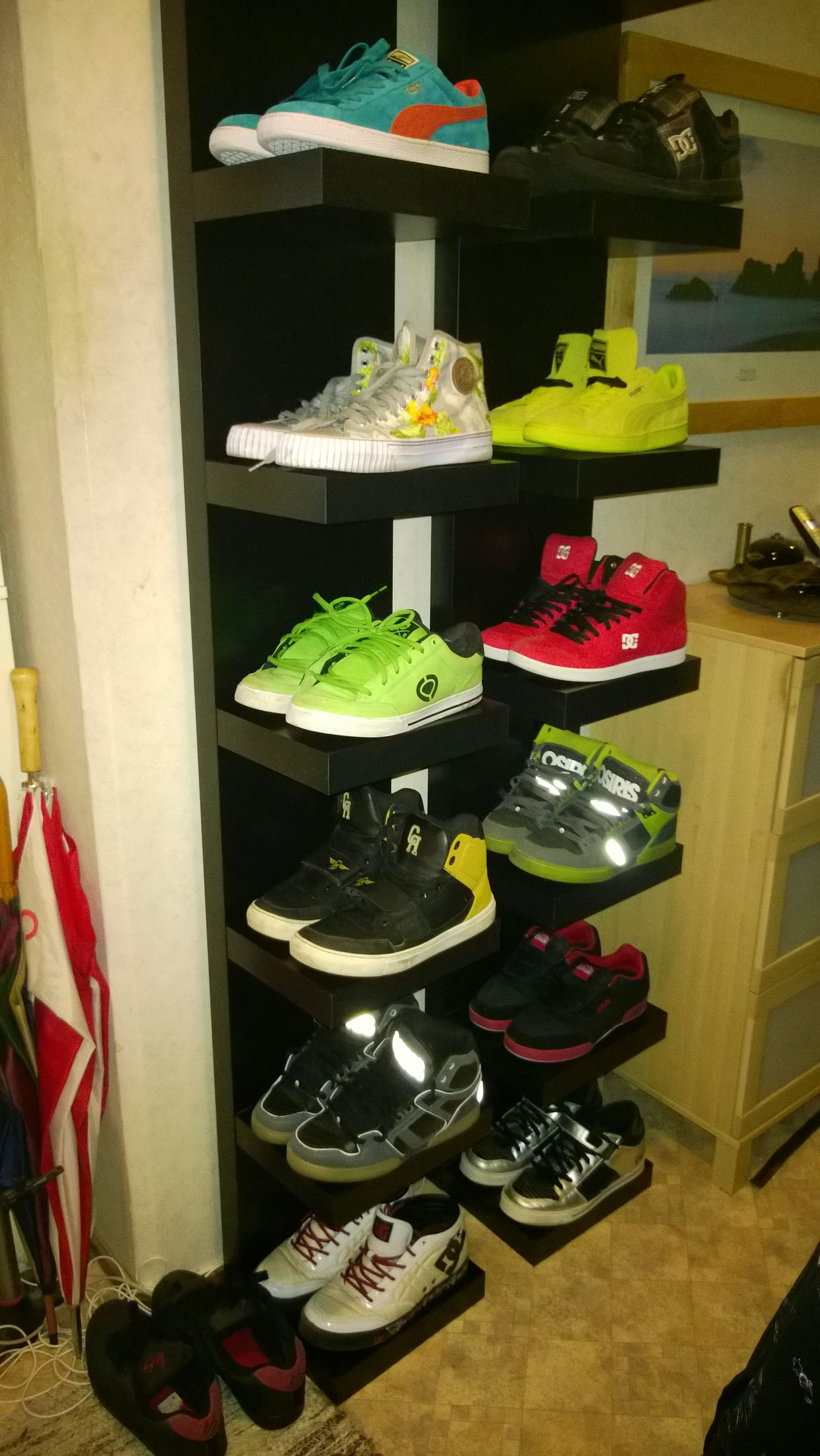 own diy shoe shelf made from ikea lack house floating wall shelves for shoes kijaro chair hidden gun cabinet sneaker storage shower liners bench canadian tire hanging square