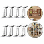 pcs floating shelf brackets concealed hidden support metal wall mounting details about mounted plate draw and hook mount open corner bookshelf pottery barn tile shower corona 150x150