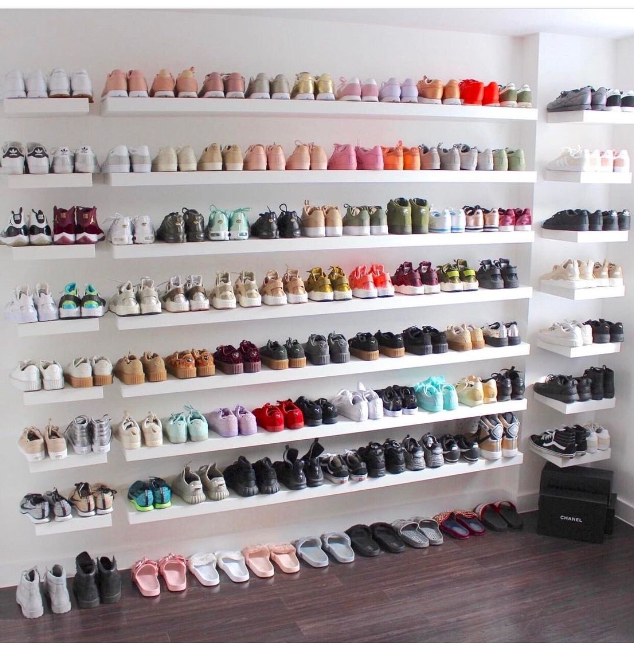 pin cassie talamantez clothing storage shoe room shoes floating wall shelves for simple and ridiculous tips can change your life shelf bedside beds plants kitchen windows books
