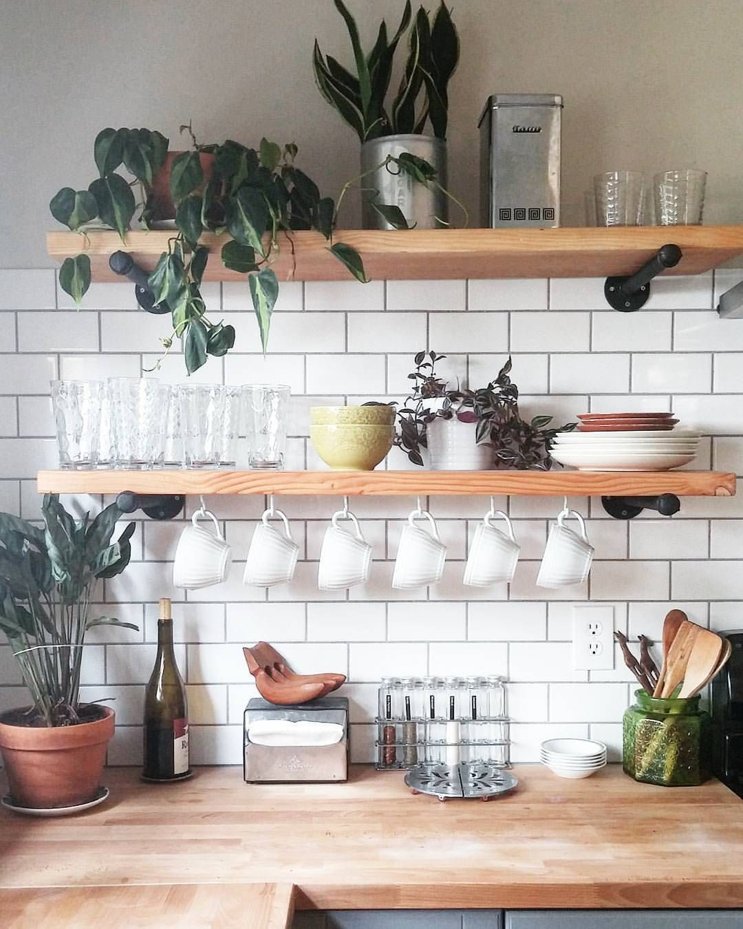 pin katie varela ideas for lemon grove kitchen home floating shelves walls coffe bar open cabinets bookshelf small bathroom table ikea white wall shelving unit inexpensive