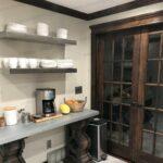 ponoma brushed floating stainless steel kitchen shelves shelf home gun vault ikea grey oak corner wall mount mantelpiece fixings white storage modular racks installing peel and 150x150