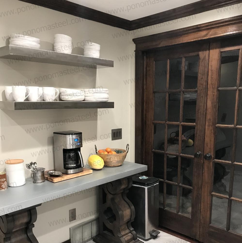 ponoma brushed floating stainless steel kitchen shelves shelf home gun vault ikea grey oak corner wall mount mantelpiece fixings white storage modular racks installing peel and