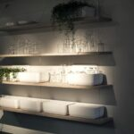 practical and trendy open shelving ideas for the modern kitchen sleek floating wooden shelves allow you create visual connection between plan living space with lights all about 150x150