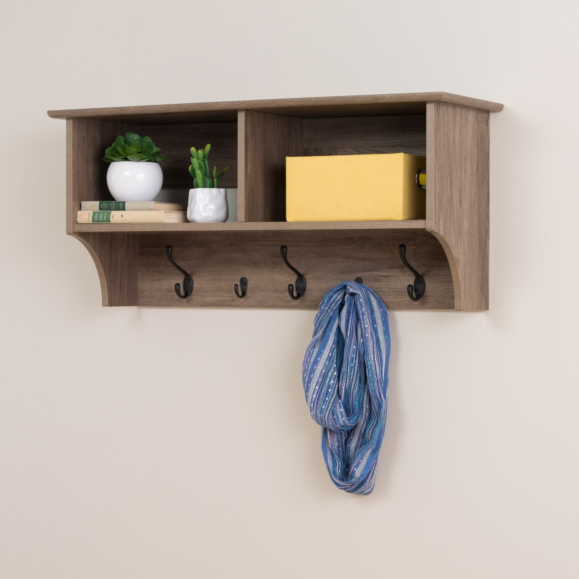 prepac drifted grey wood inch wide floating entryway shelf with bench enclosed wall shelves art small kitchen rack design for living room original bookcase brackets industrial