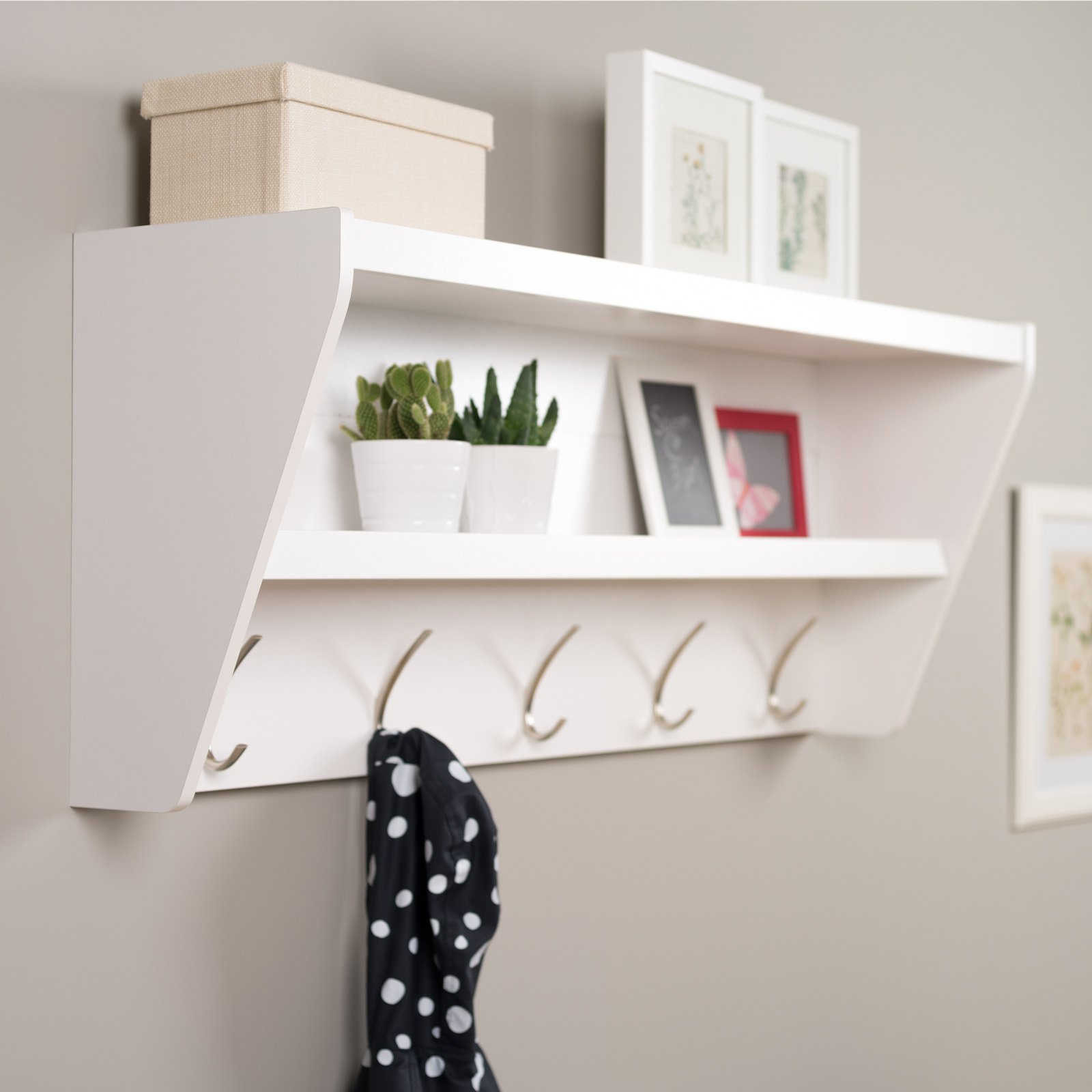 prepac floating entryway shelf and coat rack bookshelf wall brackets creative ideas chatham furniture vonhaus black shelves corner stand for bedroom boot shoe storage solutions