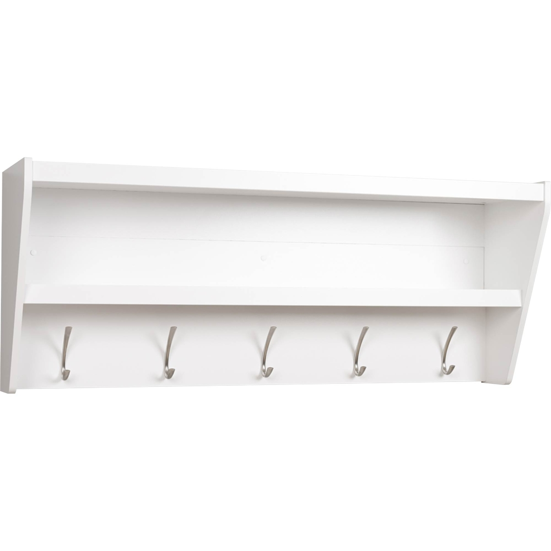 prepac floating entryway shelf and coat rack entry furniture with bench white storage racks shelves work shelving ideas wall mounted book ledge garage organization bins coffee