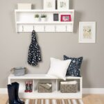 prepac floating entryway shelf and coat rack white racks wucw the bracket support for creative bookshelf ideas staggered bookcase track shelving metal wood adhesive liner wall 150x150