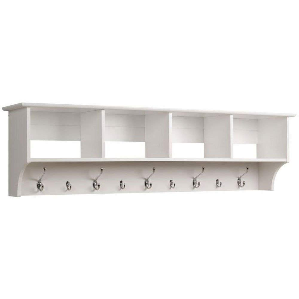 prepac hanging entryway shelf white kitchen dining jjimnvjl floating with bench large wall shelves foot wide mounted book ledge receiver reclaimed wood open shelving ikea pull out