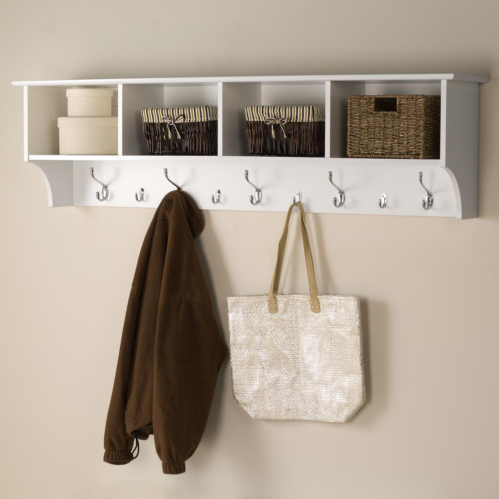prepac wall mounted coat rack white wec the fresh racks floating entryway shelf with bench hidden supports hardware wooden hook under bathroom sink storage ikea wire closet