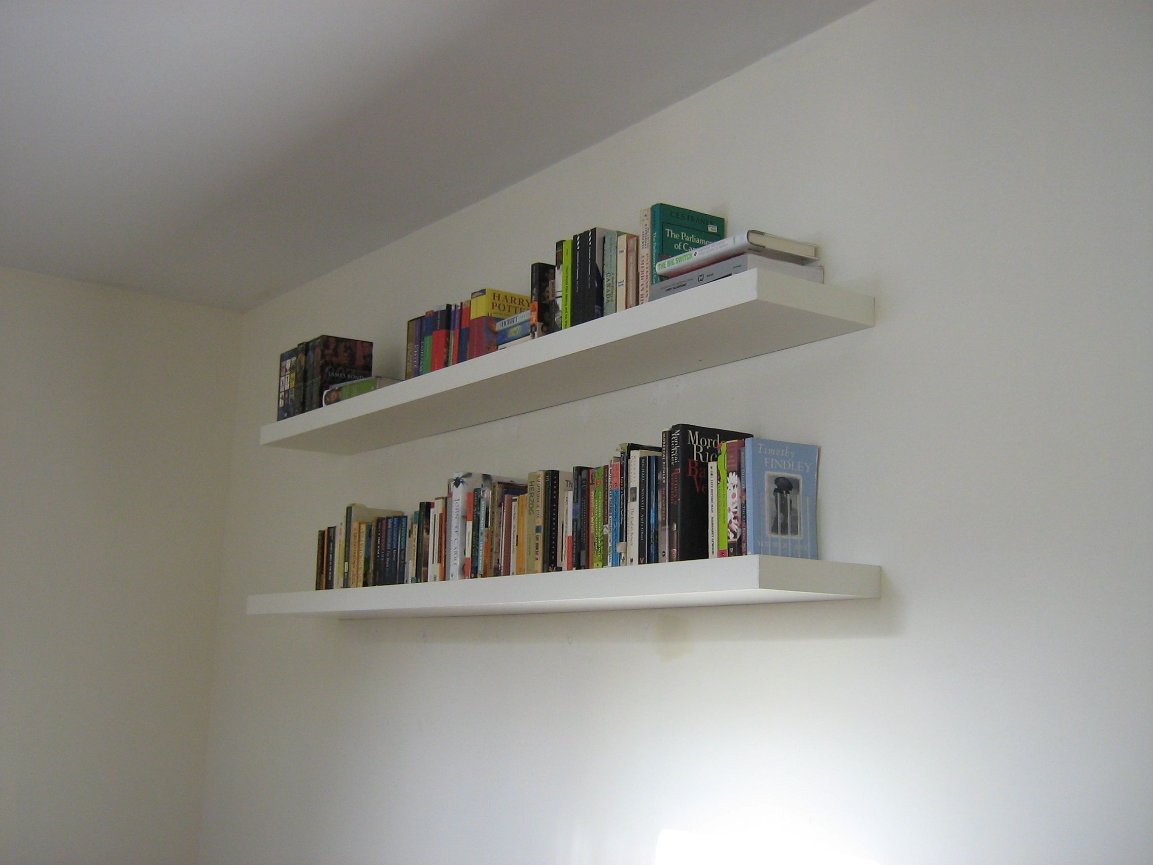 pristine white bookshelves bathroom wall wooden floating shelves for books modern book gallery with design enhancement contemporary hidden brackets metal shelf rack ikea cabinet