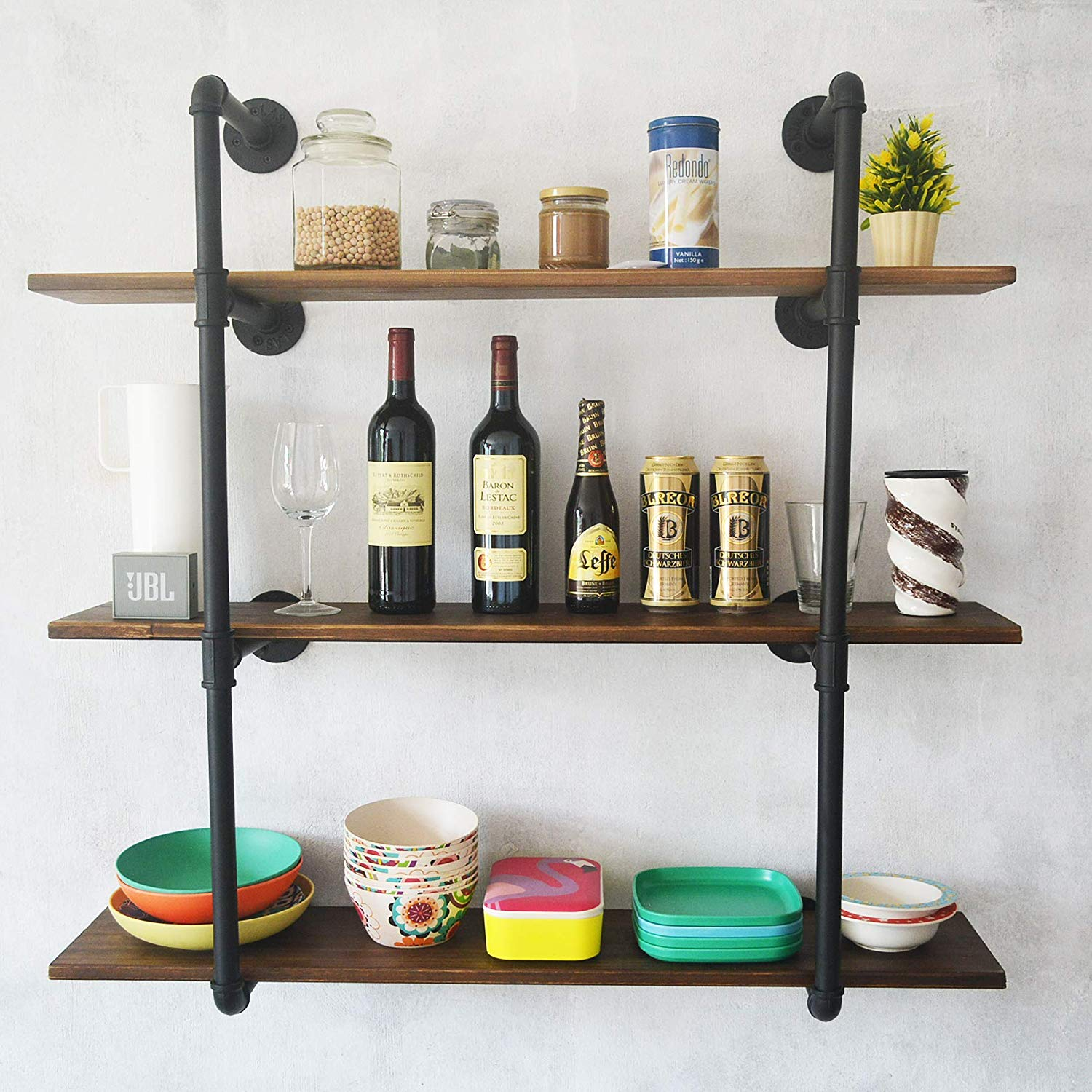 puncia pipe solid wood heavy duty kitchen book wall floating shelves for books long wooden bookcase shelf farmhouse decor display cool bookshelves jual bracket decoration shoe