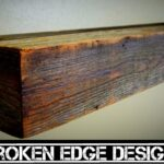 reclaimed floating shelf barnwood designs kitchen cabinet drawers for dishes how deep are upper cabinets pantry canadian tire component stand book ledge storage racks best 150x150