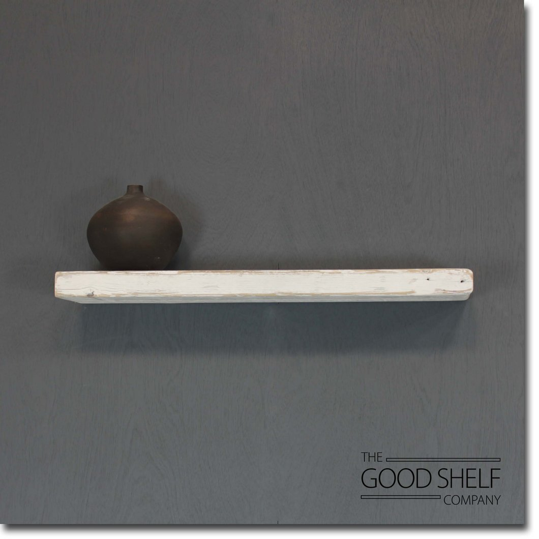 reclaimed timber beam floating shelf the good company fltwwha distressed whitewash thick corner organizer white dvd wall storage hanging entryway industrial brackets hardware
