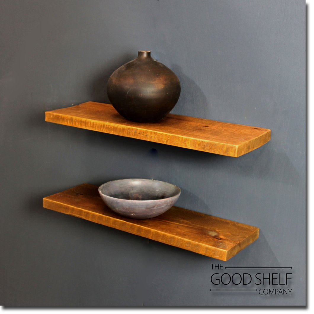 reclaimed timber beam floating shelf the good company rustic thick shoe storage wall unit garage brackets small desk bedside table ikea pottery barn workbench bedroom solutions