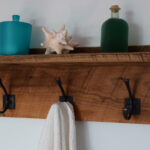 reclaimed wood bathroom towel rack barn floating shelf shelves for towels expedit kallax custom closet systems wall shelving units mounted with doors storage unit black fire 150x150