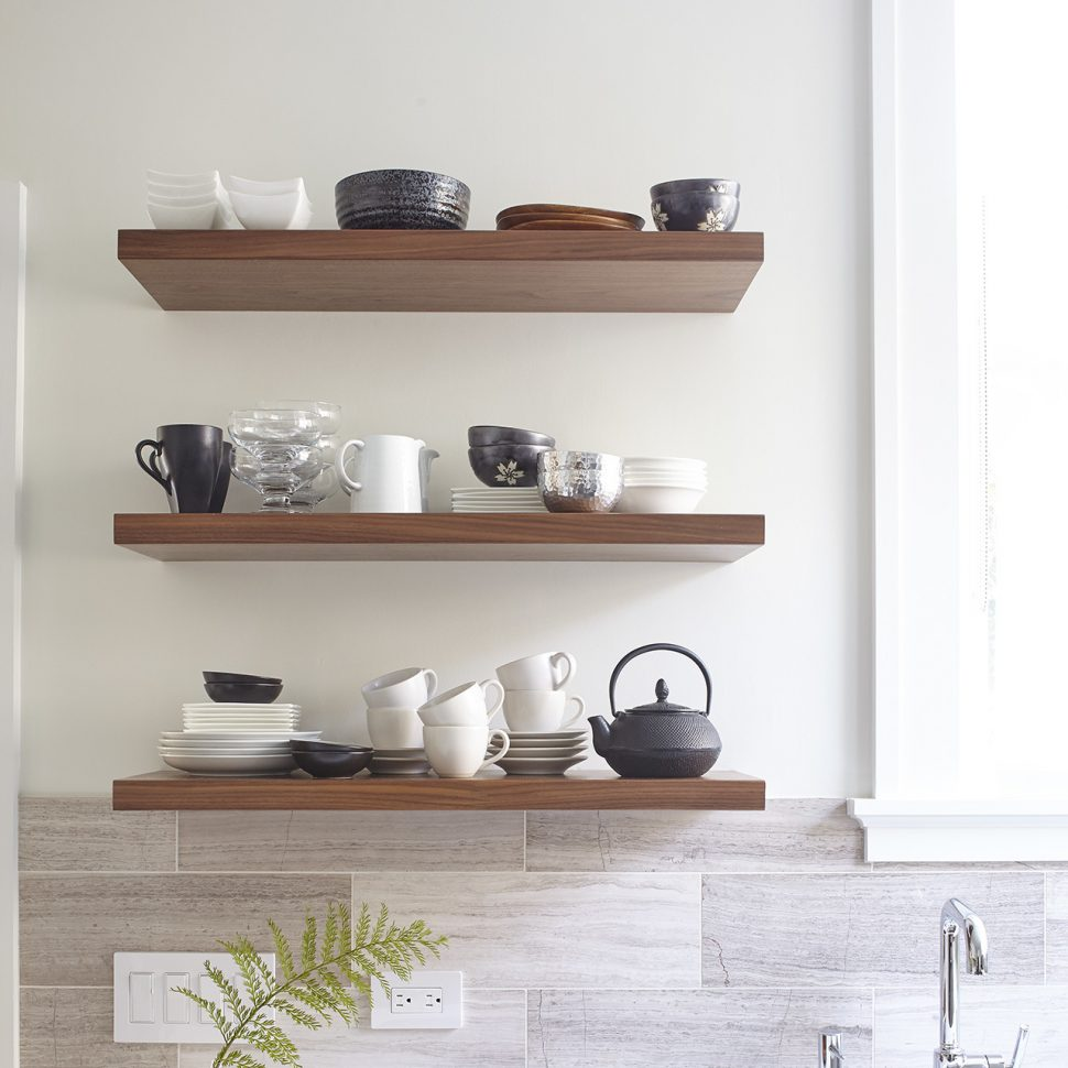 reclaimed wood floating shelves kitchen pottery barn shelf brackets restoration hardware shelving unit stunning stainless steel with distressed thick rustic modern shelfology