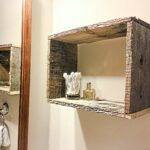 reclaimed wood rectangular floating box shelf handmade large kitchen island with seating shower cubicle space between counter and cabinets lack installation create shelves 150x150